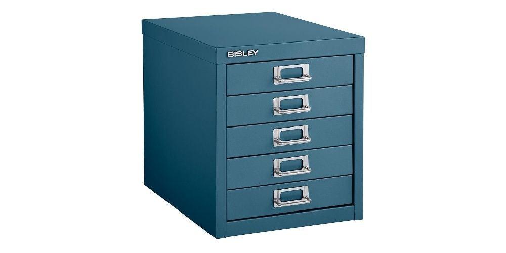 Bisley Dark Teal 5-Drawer Cabinet
