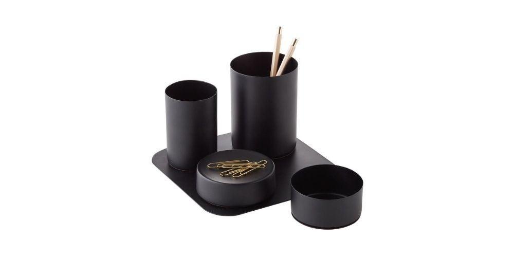Design Ideas Matte Black Magnetic Desk Set