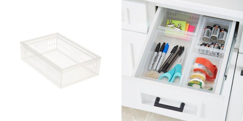 Stackable Organizers Junk Drawer Starter Kit