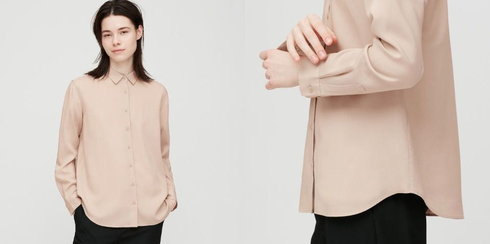 WOMEN RAYON LONG-SLEEVE BLOUSE