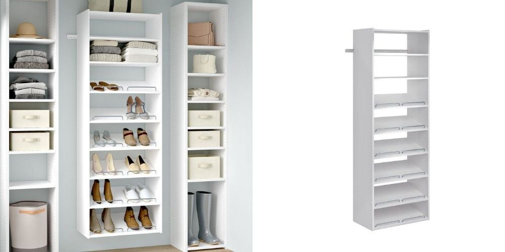 White Grid Shoe Shelves - $219.99