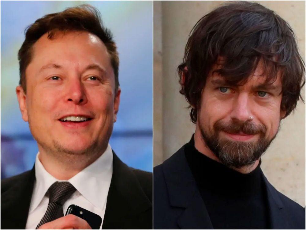 Elon Musk and Jack Dorsey