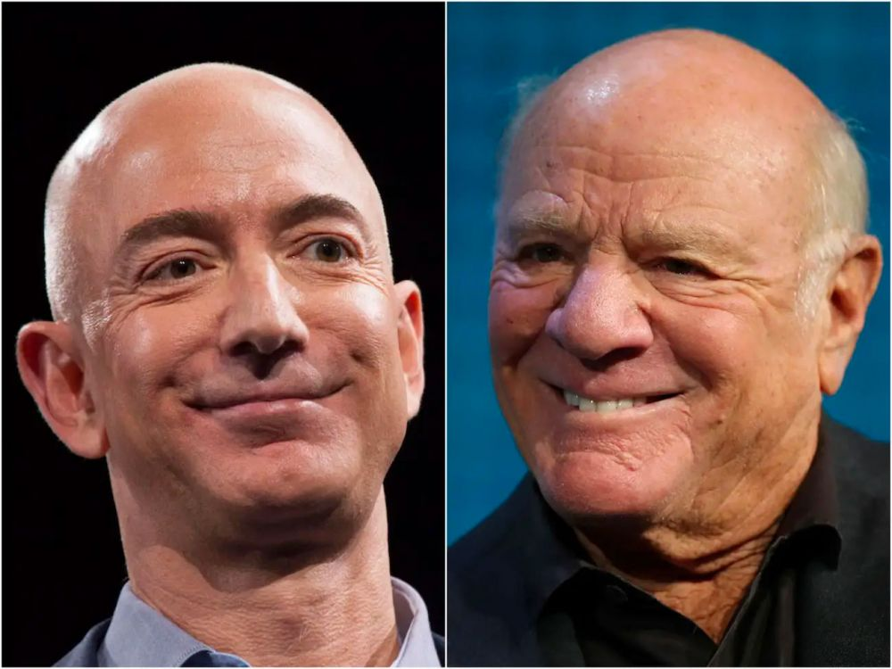 Jeff Bezos and Barry Diller