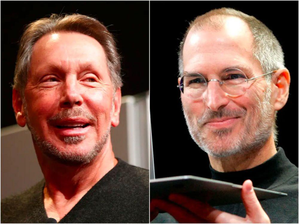 Larry Ellison and Steve Jobs