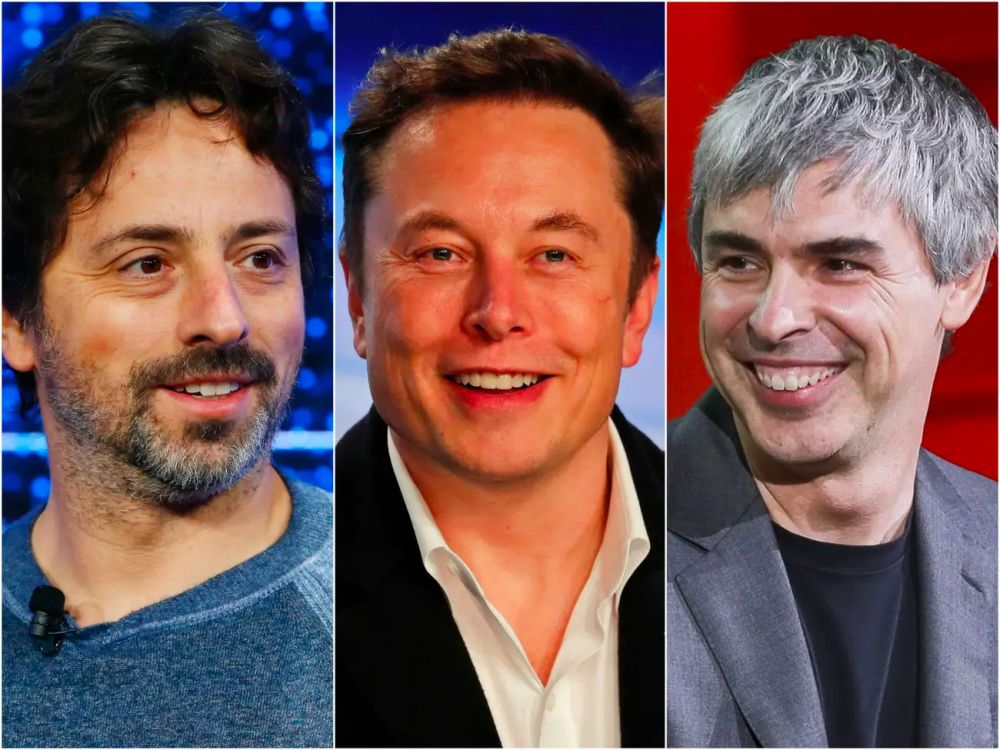 Elon Musk, Larry Page and Sergey Brin