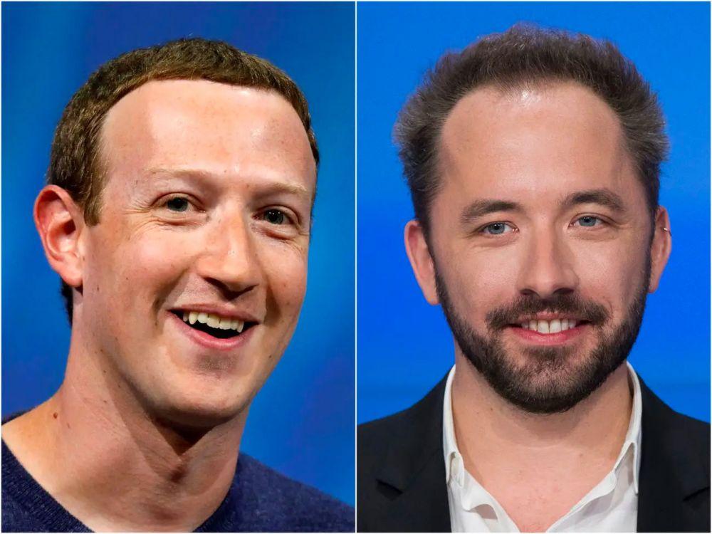 Mark Zuckerberg and Drew Houston