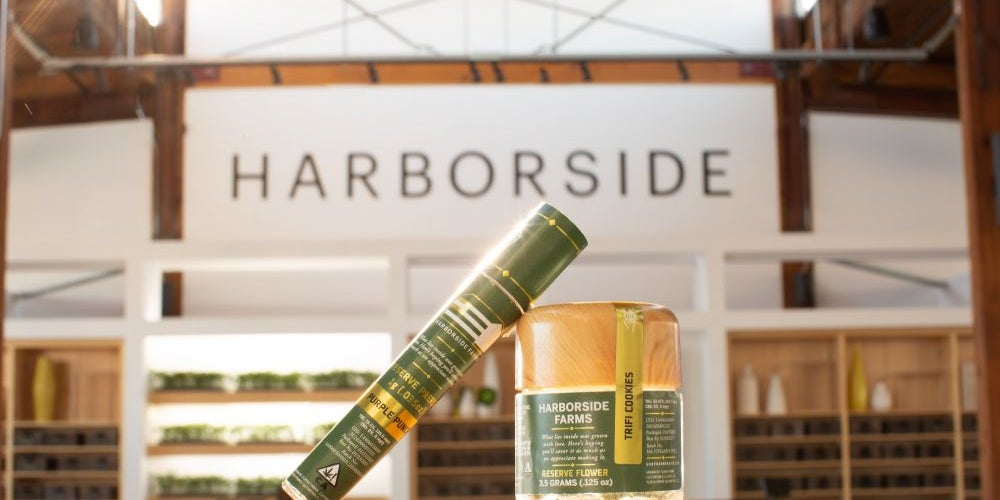 KEY and Harborside Farms products in the space