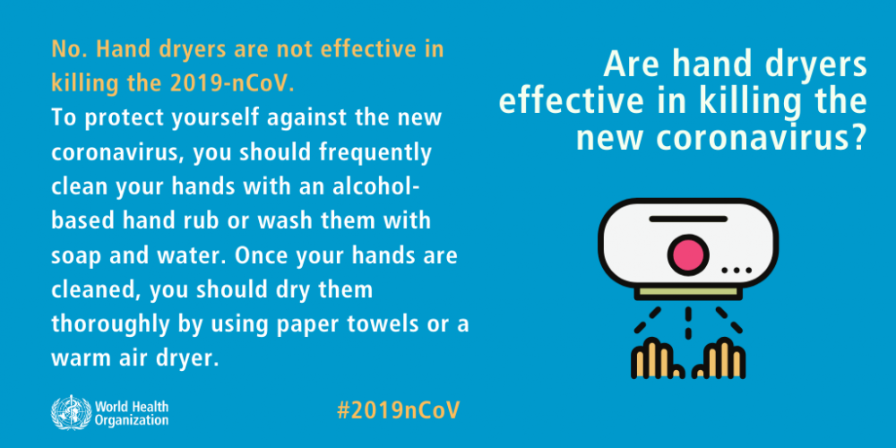 8. Hand Dryers Can Effectively Kill The Virus