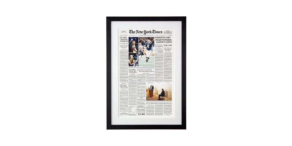 New York Times Custom Front Page Reprint - $60