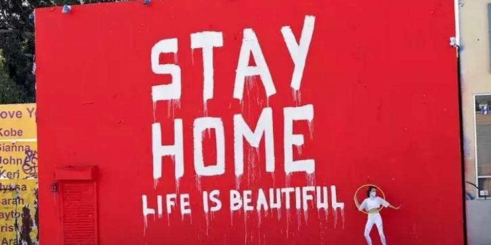 Los mensajes de ánimo para permanecer en casa.