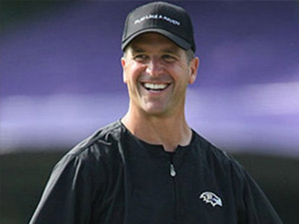 Baltimore Ravens Head Coach John Harbaugh