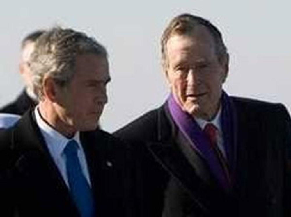 Former presidents George HW Bush and George W Bush