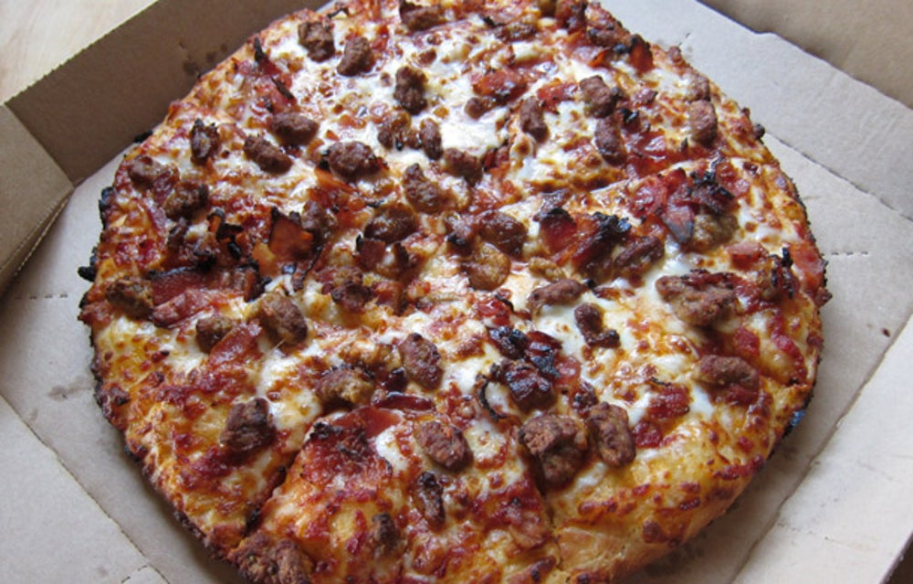 Domino's highest calorie pizza appears to have 19 times as many calories as the highest-calorie pick at Ci Ci's Pizza.