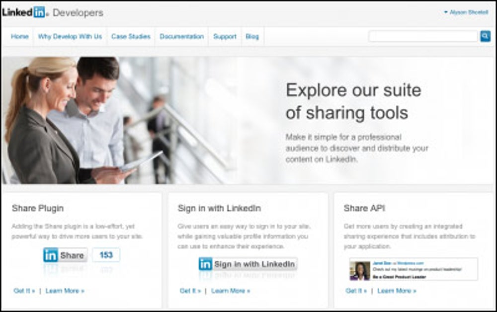 You're active on LinkedIn, but no one would know it from your website