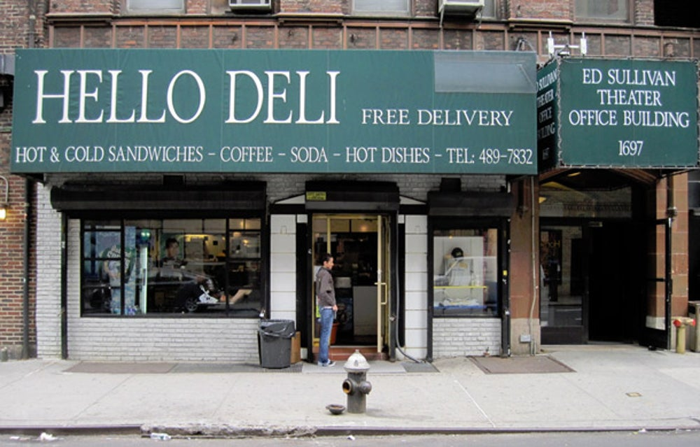 'The Late Show with David Letterman': Hello Deli