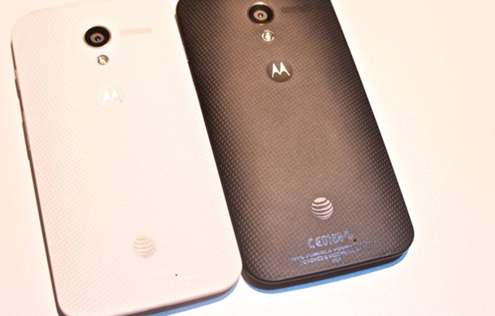 The Moto X will come in white and black at first.