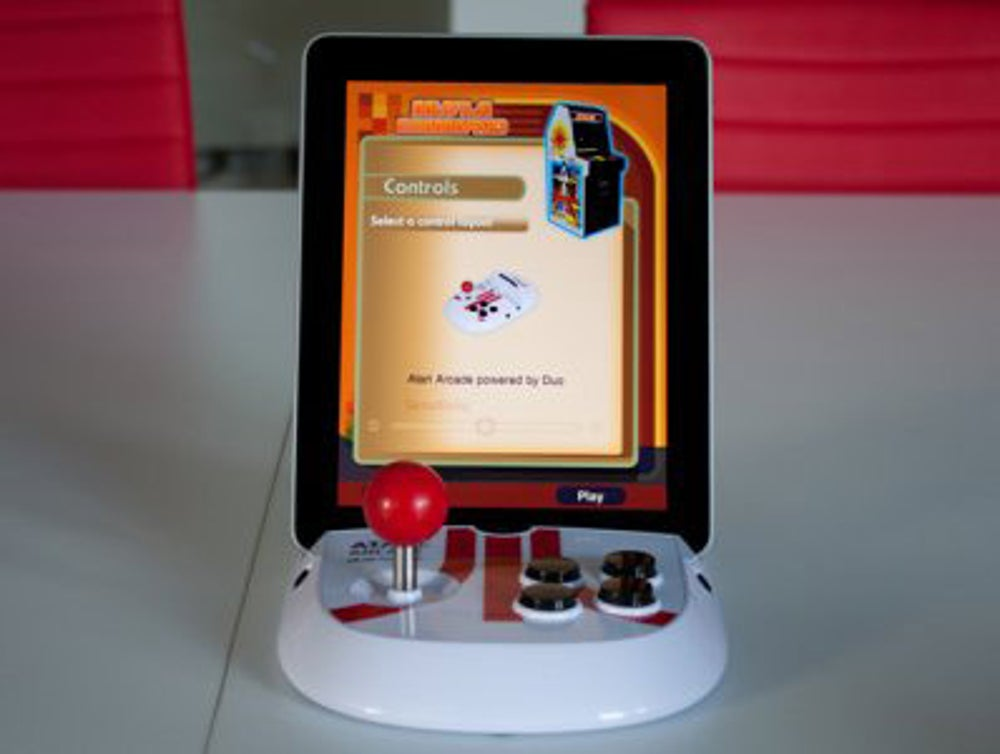 Atari launched a joystick for the iPad to enable arcade-like gaming on the go