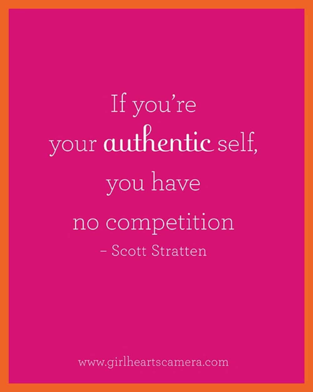 4. Be authentic