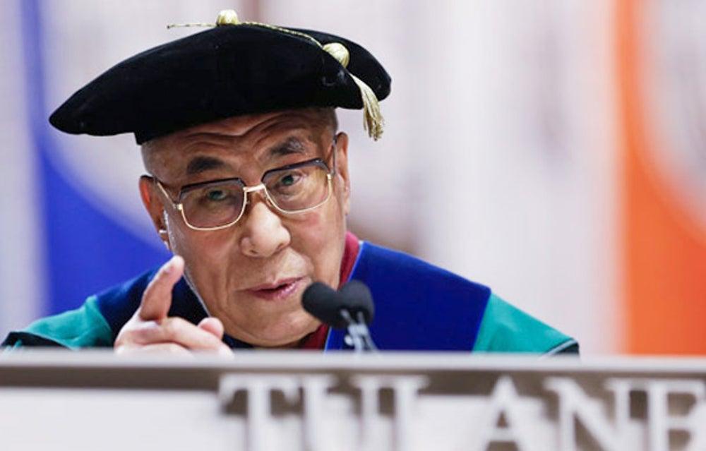 Spiritual leader Dalai Lama at Tulane University