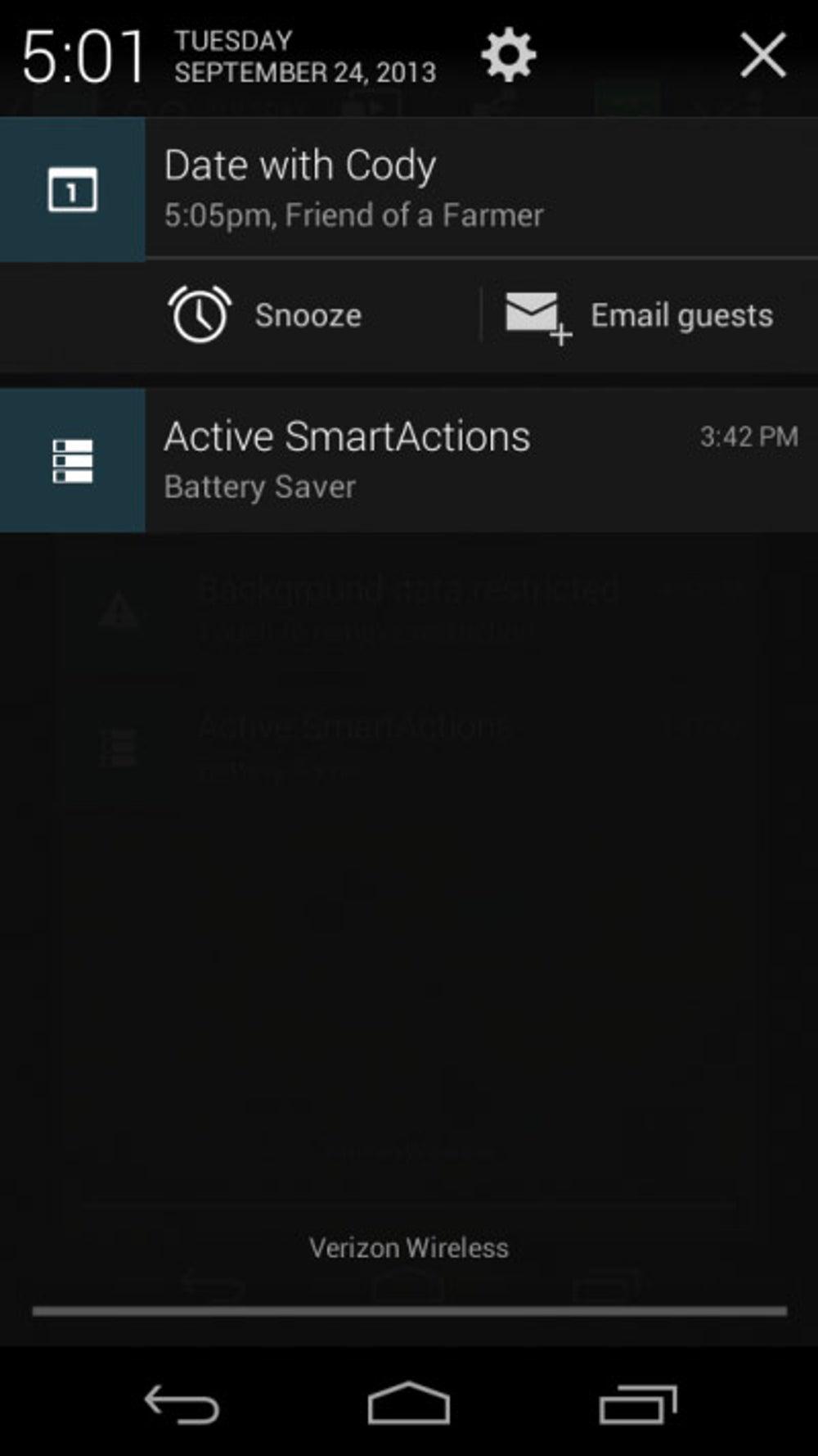 Better notifications bar