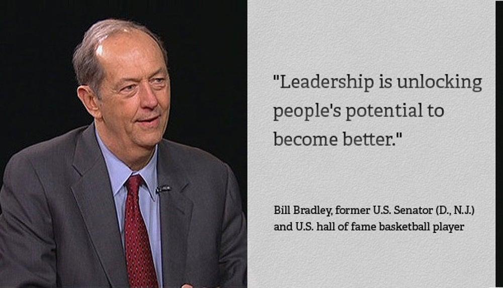 Bill Bradley, former U.S. Senator (D., N.J.)