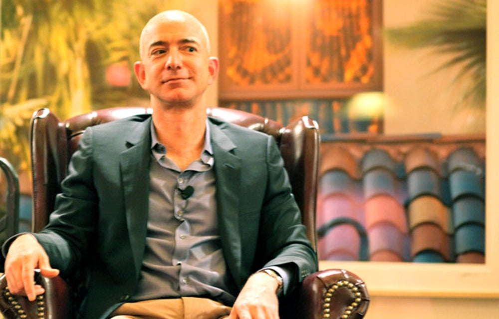 "Amazon CEO Jeff Bezos enjoys business book ""Built to Last"" and a fictional novel, ""The Remains of the Day."""