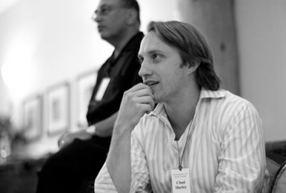 Chad Hurley registers the trademark, logo, and domain of YouTube on Valentine's Day 2005