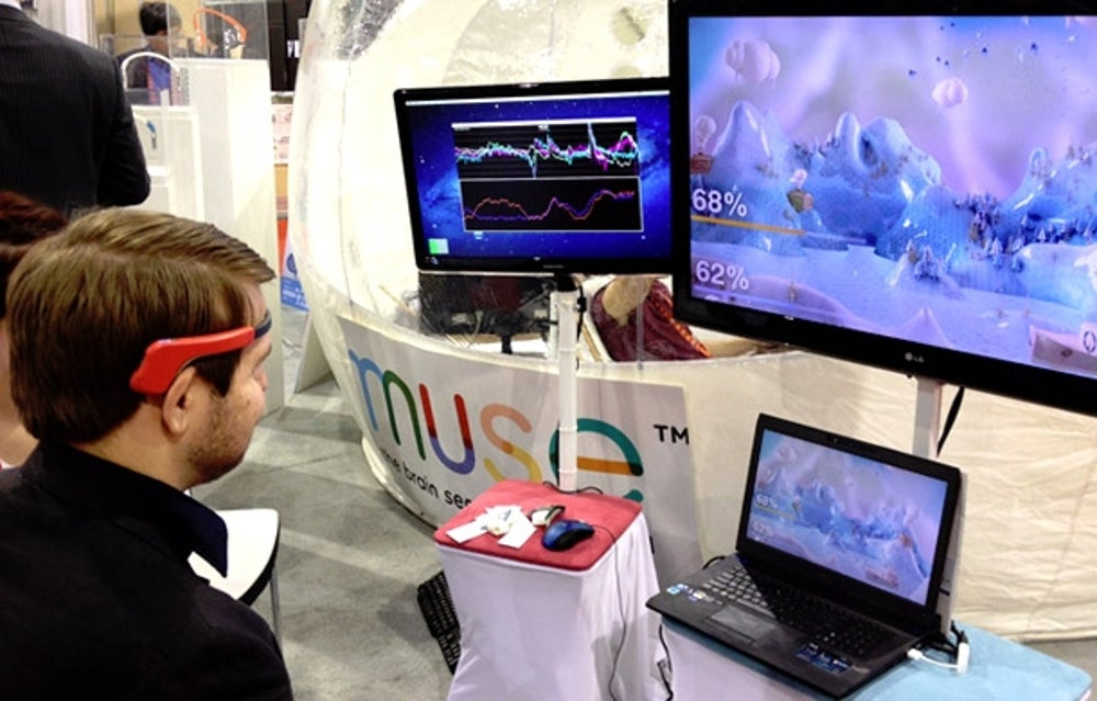 A brainwave-reading headband.