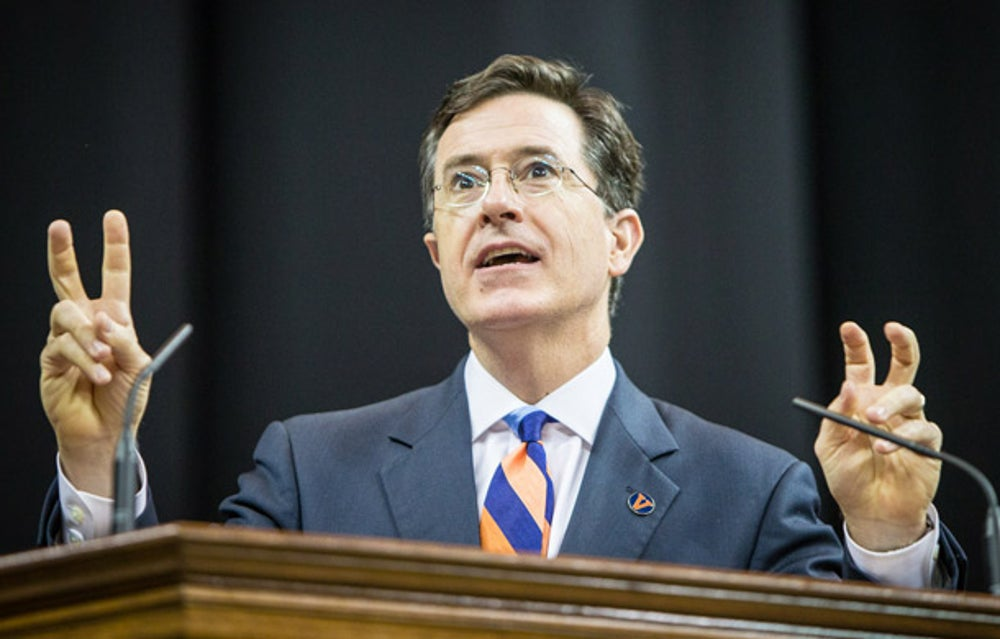 Emmy Award-winning satirist Stephen Colbertat University of Virginia