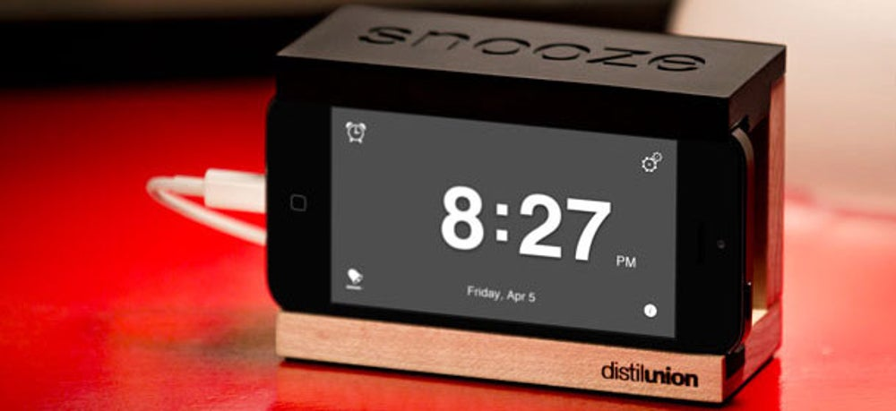 6. Distil Union Snooze iPhone Alarm Dock