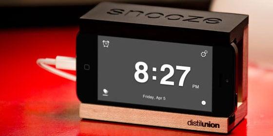 6. Distil Union Snooze iPhone Alarm Dock