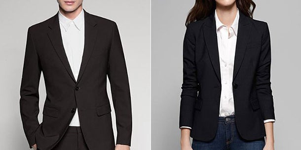 A classic black blazer.