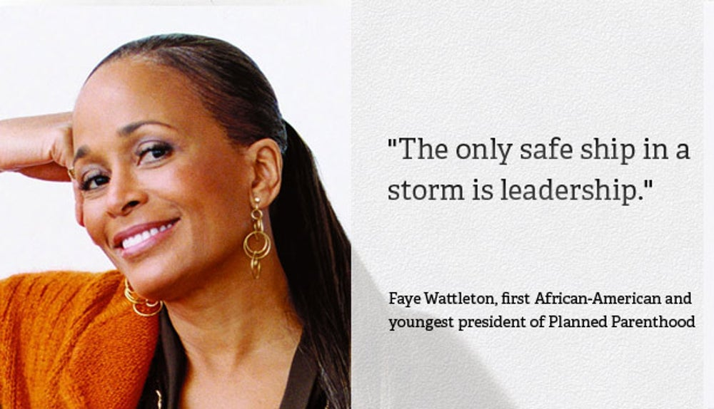 Faye Wattleton, president of Planned Parenthood