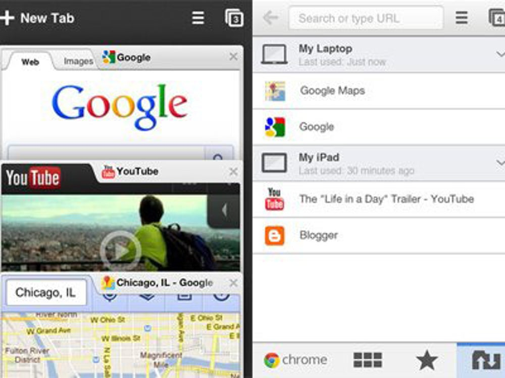 Google Chrome: All your tabs from all your devices in one place.