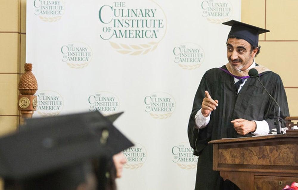 Founder of yogurt company ChobaniHamdi Ulukaya at the Culinary Institute of America