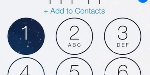 When dialing a number, users can see their background as they press numbers.