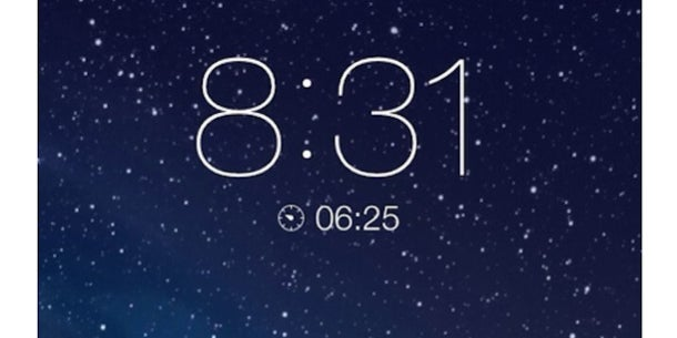 Set the timer in the clock app and the countdown appears on your lock screen. You can also see how much time you have left on your alarm if you hit the snooze.