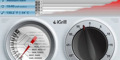 iGrill checks your food's temperature and displays it on your phone