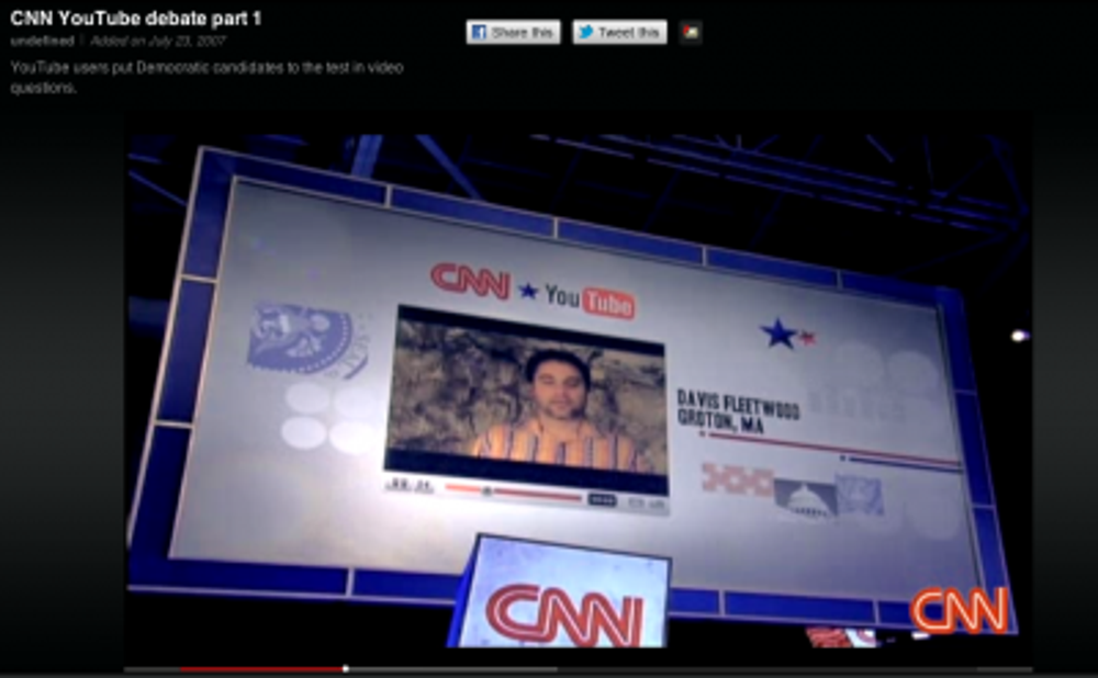 In July 2007, YouTube teamed up with CNN to host the presidential debate for the 2008 election cycle