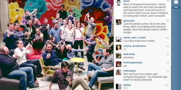 In late February, Instagram hit its 100 millionth user.