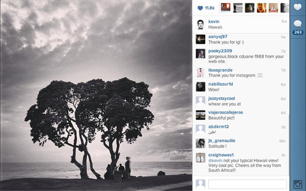 In late March/early April, about one year after the Facebook acquisition, Systrom and his girlfriend relaxed in Hawaii.