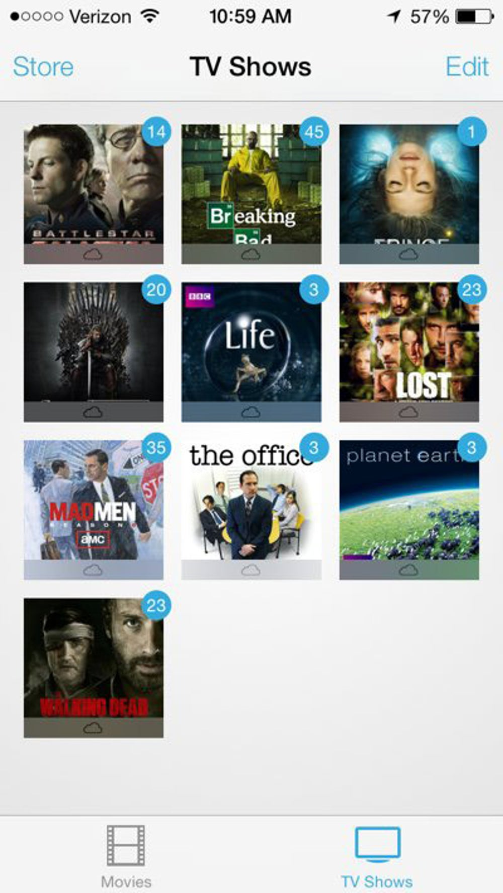 Just tap a show or movie to download it to your device.