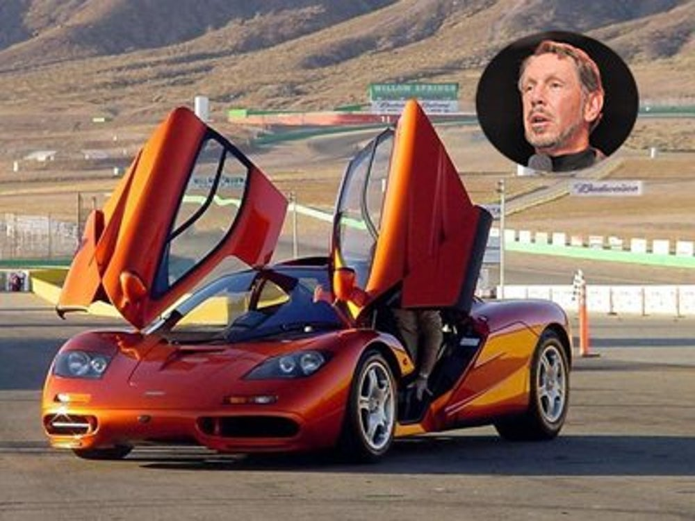 Larry Ellison has a ton of vehicles at his disposal