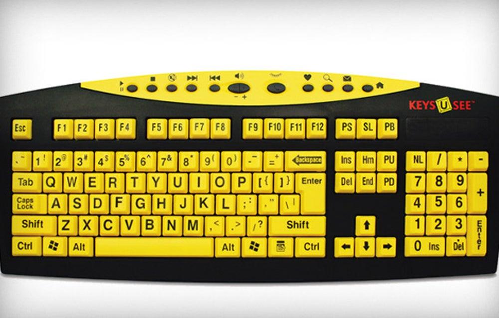 Magnifying Aids Keys-U-See Keyboard