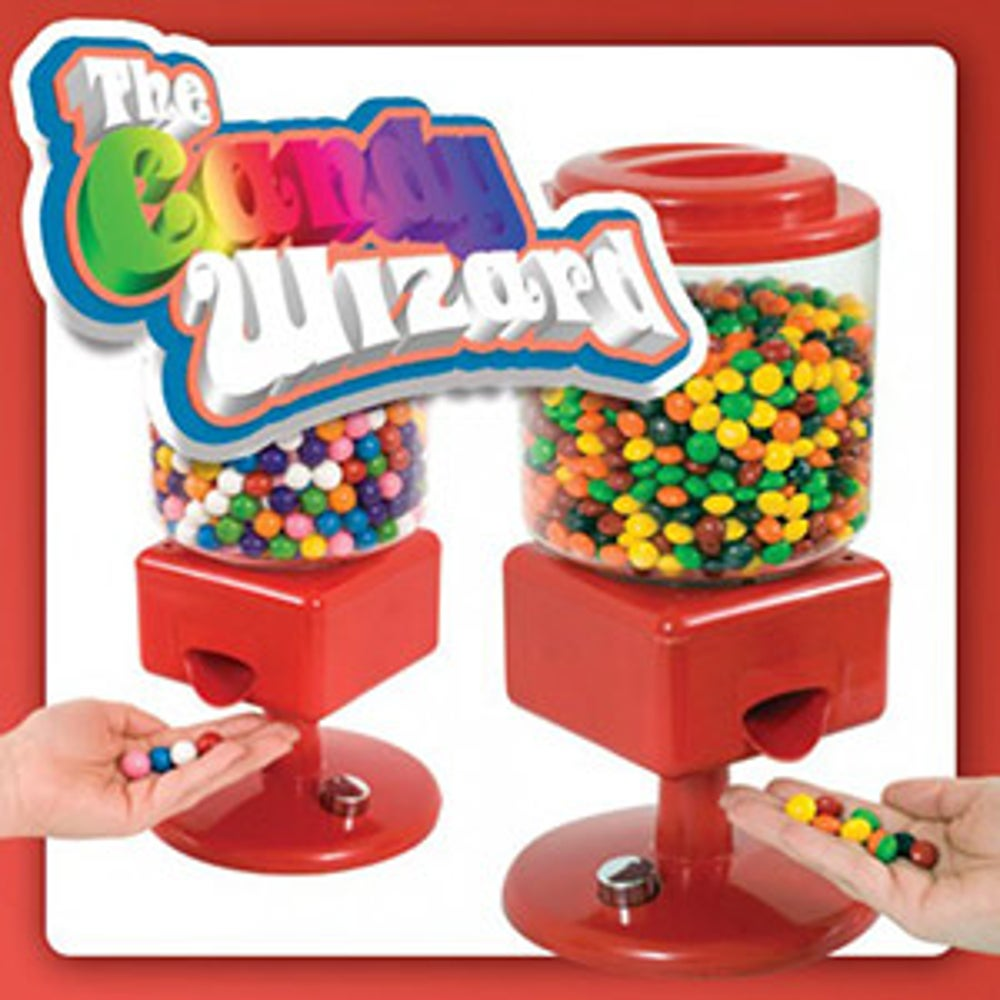 A motion-activated candy dispenser