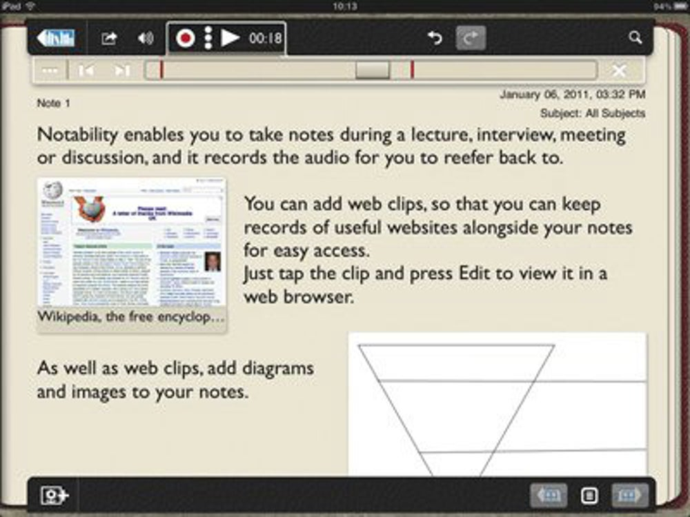 Notability: Voice recording and handwriting integration for your notes.