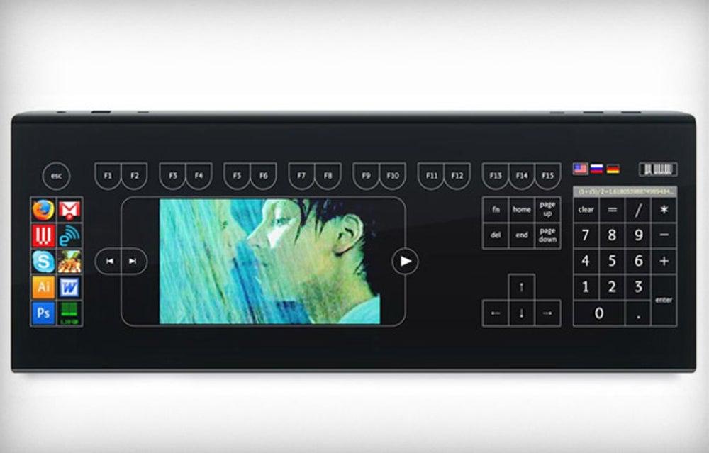 Optimus Tactus Touch Keyboard