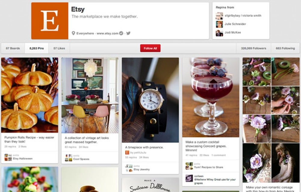 Etsy: when promoting, think visually