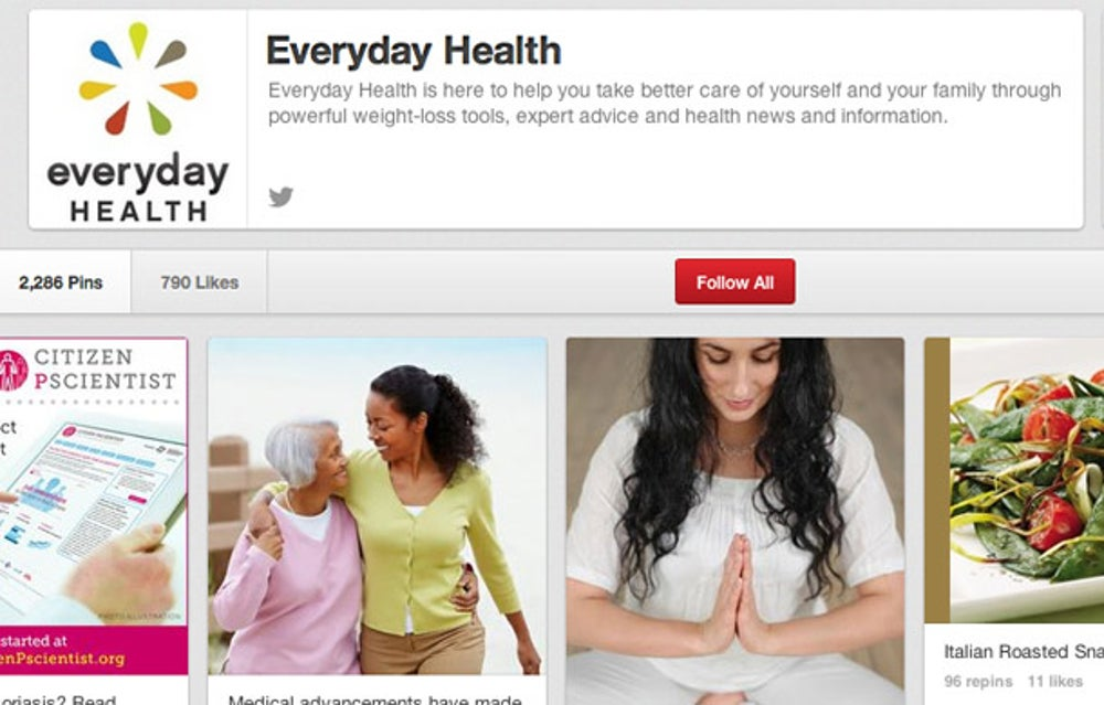 Everyday Health: be sure to link back to your website