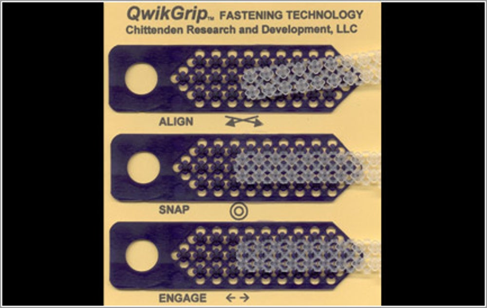 QwikGrip Integrally Moldable Fastening Technology